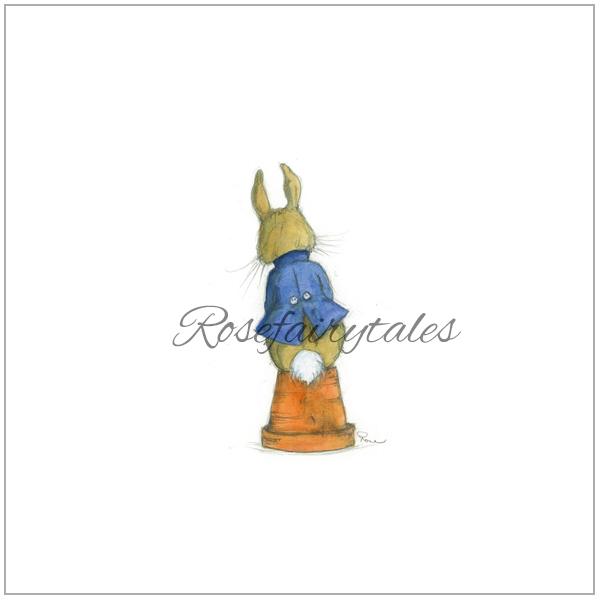 Kaart oud hollands papier konijn