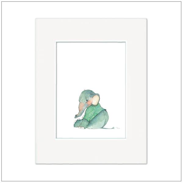 Prent Kinderkamer - olifantje