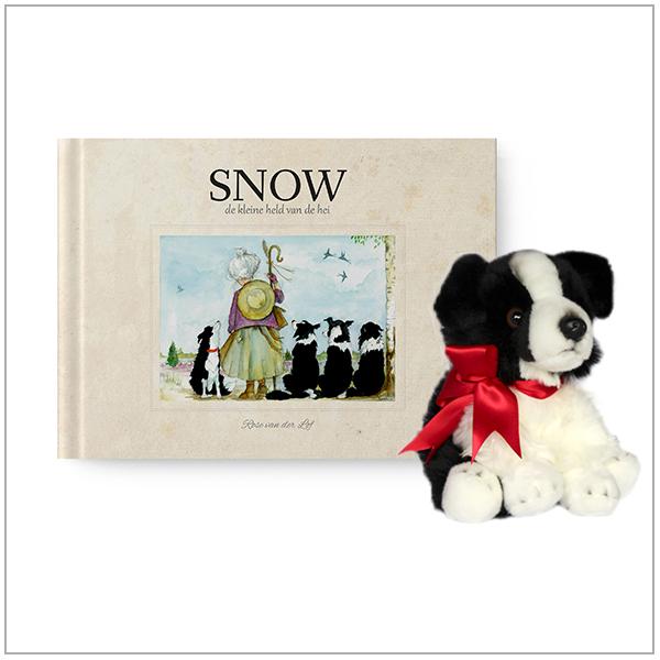 knuffel en boek snow