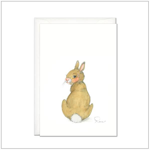 Kaart versturen - postcard - konijntje