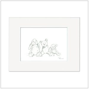 Prent Kinderkamer - illustratie knuffels