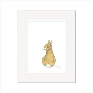 Prent Kinderkamer konijntje