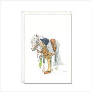 Kaart versturen - postcard - Paard met ruiter
