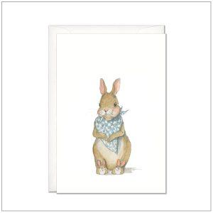 Kaart versturen - postcard - baby konijntje 1