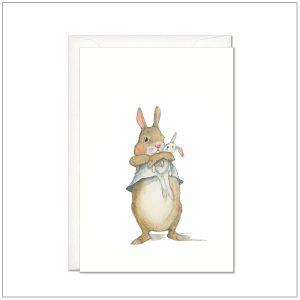 Kaart versturen - postcard - baby konijntje 2
