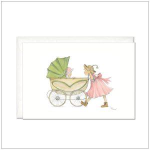 Kaart versturen - postcard - geboortekaartje meisje 1