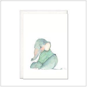 Kaart versturen - postcard - baby olifantje