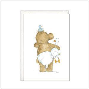 Geboortekaart - olifantje in luier