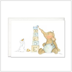 Geboortekaart - olifantje speelgoed