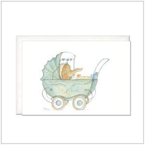 Geboortekaartje - Geboortekaart wandelwagen