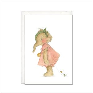 Geboortekaart - meisje postcard
