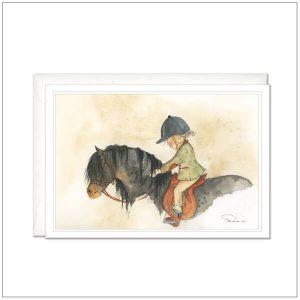Kaart versturen - postcard - paardenmeisje