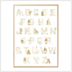 ABC poster - BeeJee & Co. ingelijst