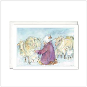 Kaart versturen - postcard - Schapen herder